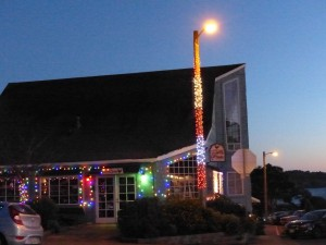 Colorful Lights in Mendocino