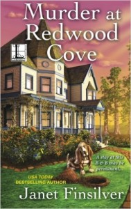 This is a cozy mystery set in northern California with specially trained dogs.