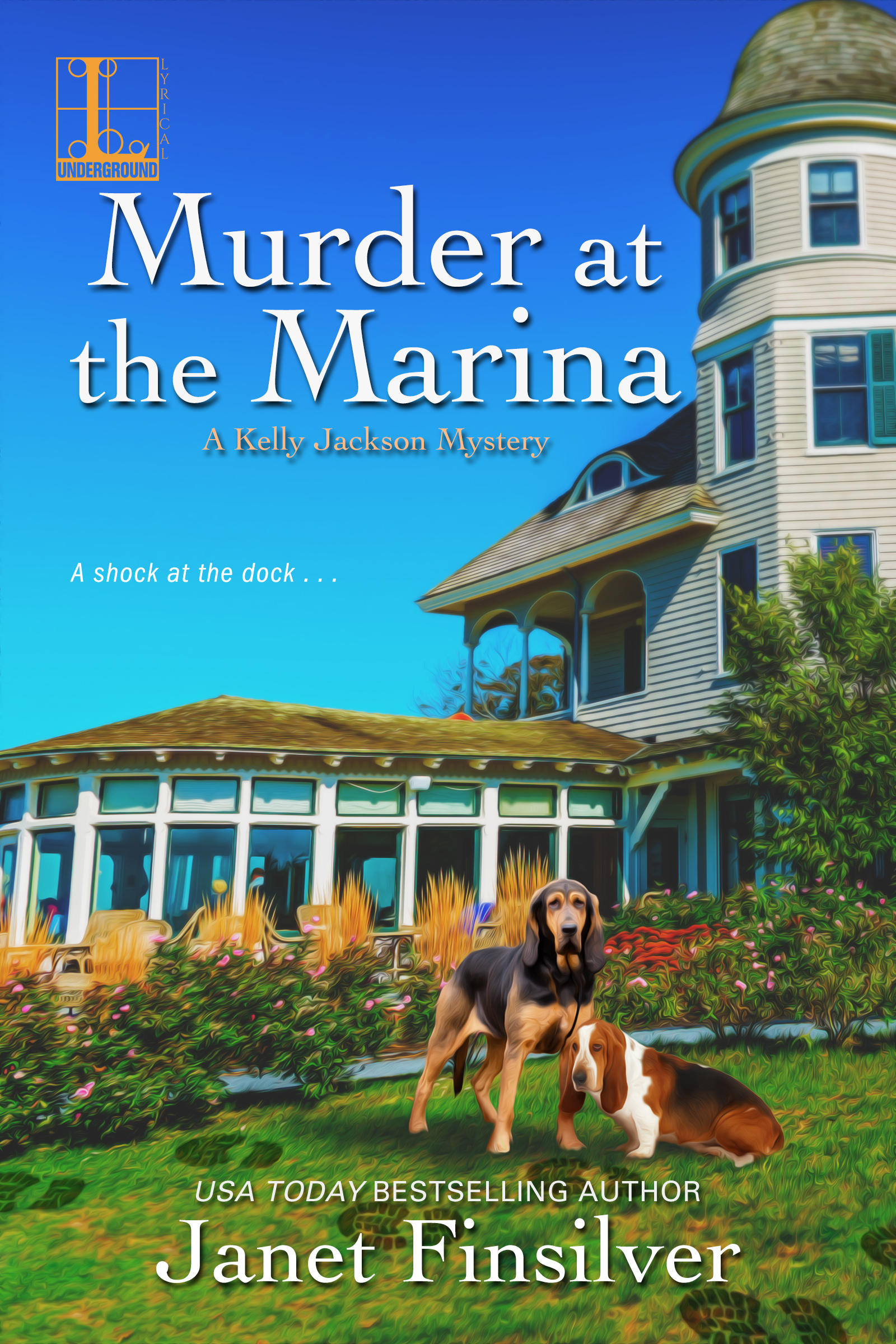 Murder Aa the Marina is the fifth in the Kelly Jackson cozy mystery series by Janet Finsilver set in the Mendocino area of northern California.