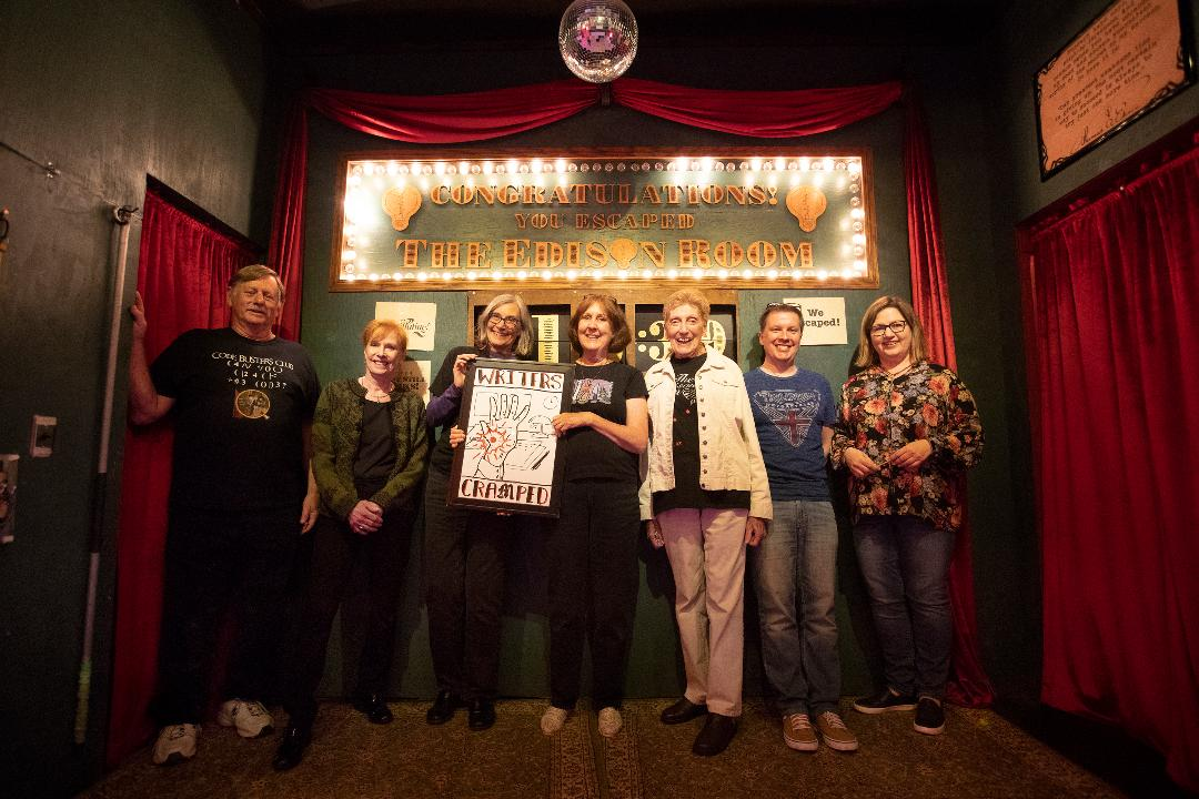 A group of mystery writers worked to get out of the Edison Escape Room in San Francisco.